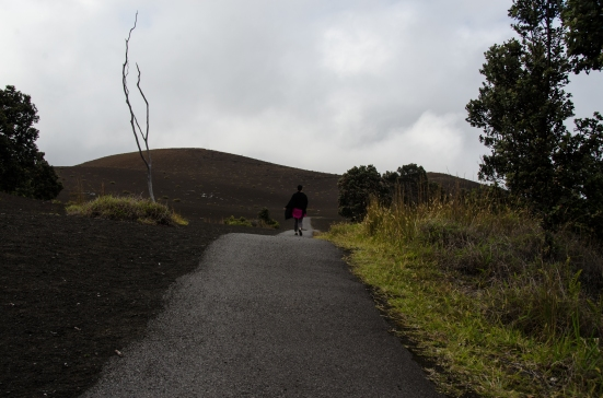 Walking on Devastation Trail, Hawaii Volcanoes National Park