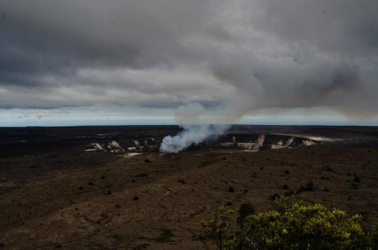 Halemaumau Overlook view of Pele's home, Hawaii Volcanoes National Park