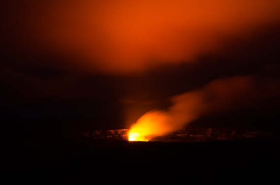 Halema'uma'u at night, Hawai'i Volcanoes National Park