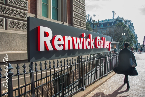 Renwick Gallery sign outside