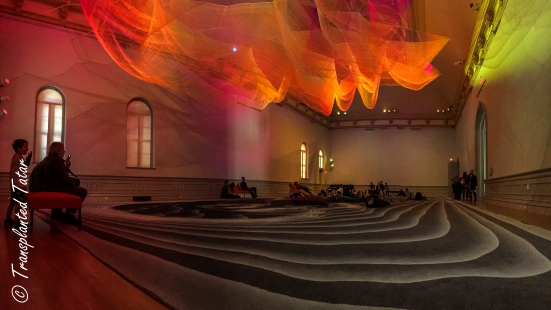 Janet Echelman installation at Renwick Gallery