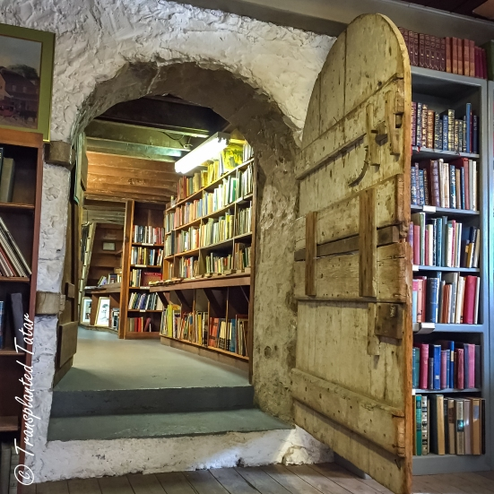 A door opened inside the Baldwin's Book Store